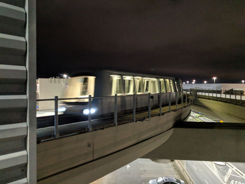 SFO AirTrain, automated people mover. Terminal 2