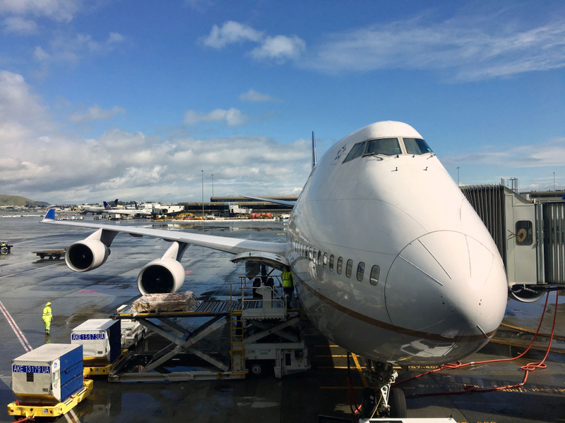 United 747-400 to Tokyo (NRT)