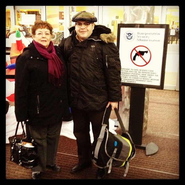 My mom and I leaving the comfort of an Ohio gun free zone...