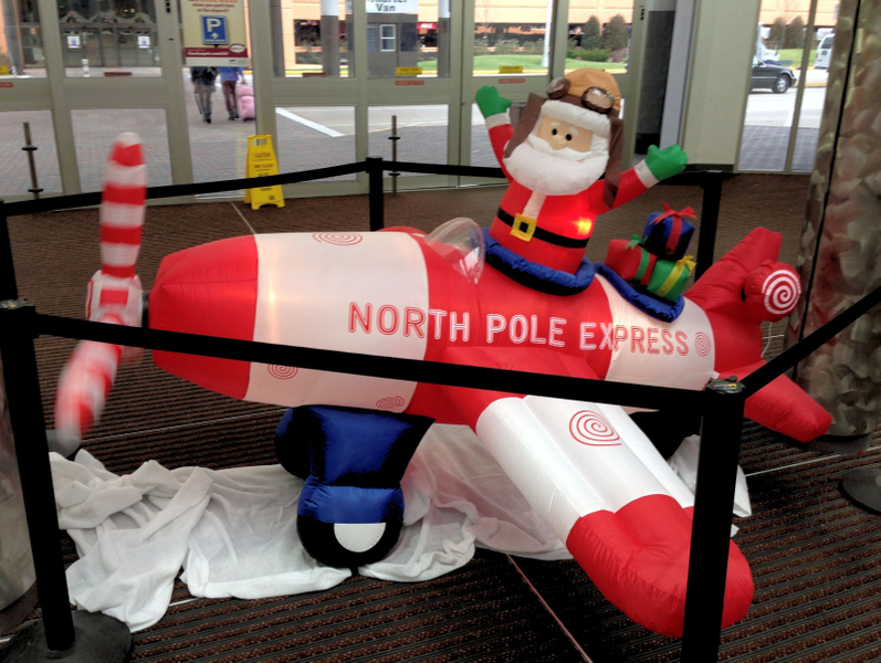Flying back to NYC on the North Pole Express!
