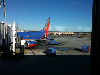 Well, my @southwestair plane is here. Yeehah! No prop plane!