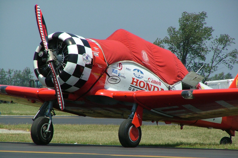 Parked Plane of the Honda Aerobatic Team