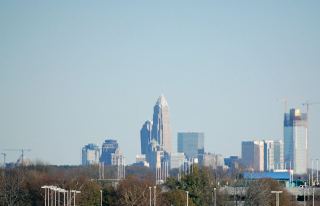 Charlotte Skyline from airport