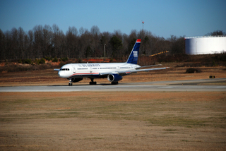 USAirways 757 Taking 18C for Takeoff