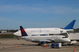 Boeing Dreamlifter Leaving Charleston International Airport (Charleston, S.C.) - Friday November 10, 2017