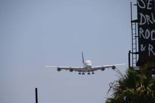 Lufthansa A380-800 Landing - Plane Watching at In-N-Out Burger near LAX (Los Angeles International Airport) - Tuesday June 21, 2016