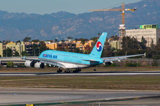 Korean A380 Lands at LAX