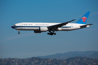 China Sourthern Cargo Boeing 777F approaches LAX