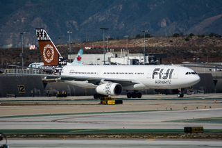 Fiji Airways Airbus A330 taxies at LAX
