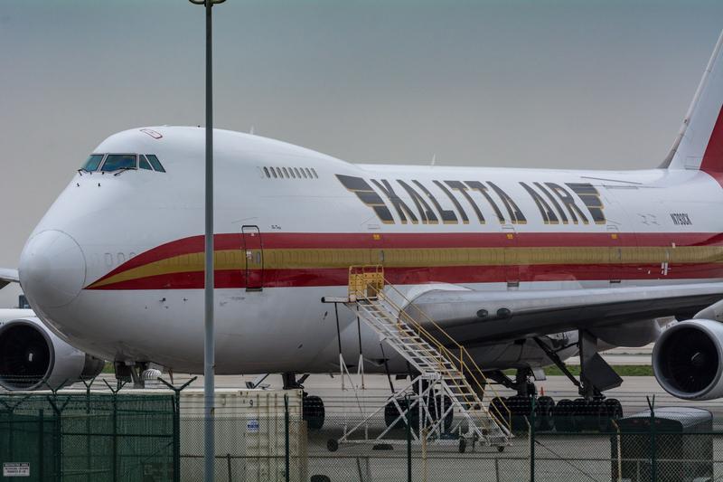 Kalitta 747-200 at LAX on 5 February 2017