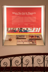 "Installation view of ""When You Got It - Flaunt It: Advertising Braniff Airlines"""
