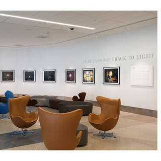 """Installation view of """"Caleb Charland: Back to Light"""""""