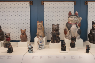 "Installation view of ""Maneki Neko: Japan's Beckoning Cat"""