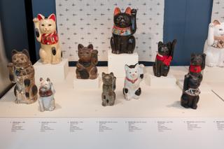 "Installation view of ""Maneki Neko: Japan's Beckoning Cat"""