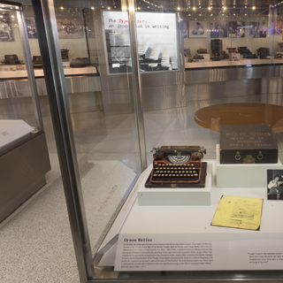 "Installation view of ""The Typewriter: An Innovation in Writing"""