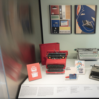 """Installation view of """"The Typewriter: An Innovation in Writing"""""""