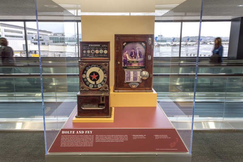 "Installation view of ""Games of Chance: Gambling Devices of the Mechanical Age"""