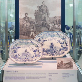 "Installation view of ""From Print to Plate: Views of the East on Transferware"""
