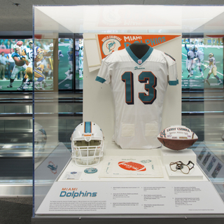 "Installation view of ""The Nation's Game: A History of the National Football League"""
