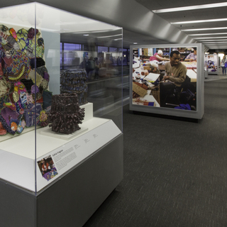 """Installation view of """"Celebrating a Vision: Art & Disability"""""""