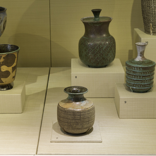 """Installation view of """"A Potter's Life: Marguerite Wildenhain at Pond Farm"""""""