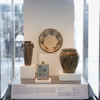 "Installation view of ""Mingei: Traditional Japanese Arts """