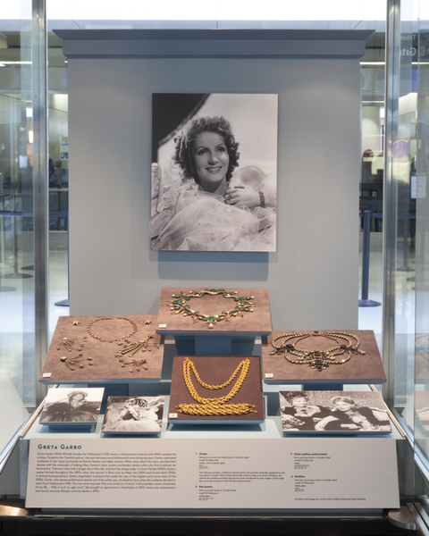 "Installation view of ""Joseff of Hollywood: Jeweler to the Stars"""