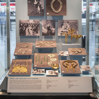 """Installation view of """"Joseff of Hollywood: Jeweler to the Stars"""""""