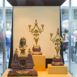 "Installation view of ""Egyptian Revival: An Everlasting Allure"""