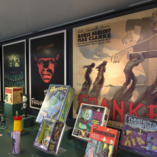 """Installation view of """"Classic Monsters: The Kirk Hammett Collection"""""""