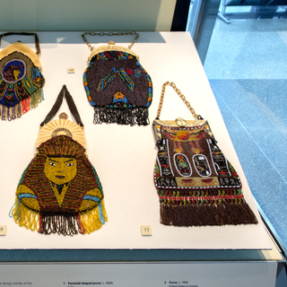 """Installation view of """"Egyptian Revival: An Everlasting Allure"""""""