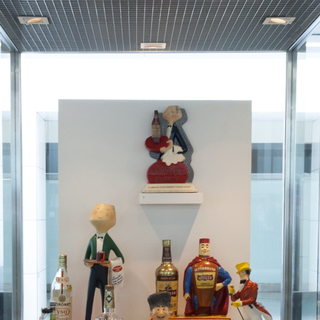 "Installation view of ""A World of Characters: Advertising Icons from the Warren Dotz Collection"""