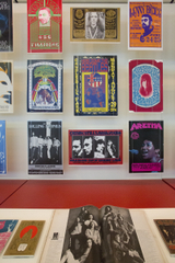 "Installation view of ""When Art Rocked: San Francisco Music Posters"""