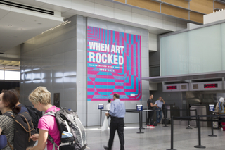 """Installation view of """"When Art Rocked: San Francisco Music Posters"""""""