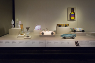 "Installation view of ""Studio Glass, The Art of Marvin Lipofsky, Richard Marquis, John Lewis and Elin Christopherson"""