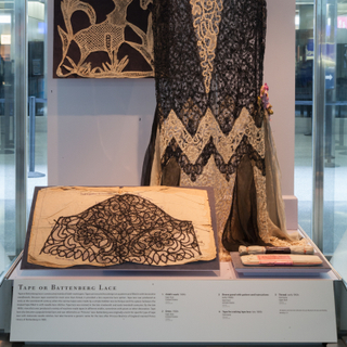 """Installation view of """"Lace: A Sumptuous History (1600s-1900s)"""""""