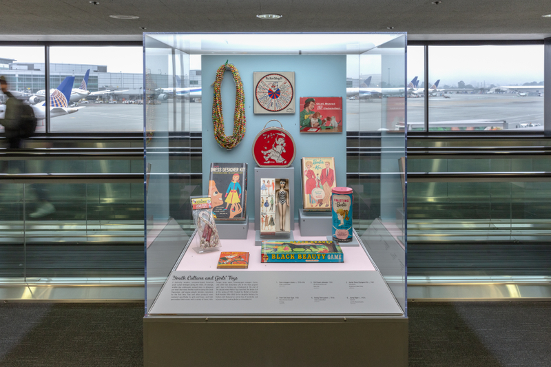 """Installation view of """"The Modern Consumer – 1950s Products and Styles"""""""