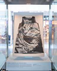 """Installation view of """"Caticons"""""""