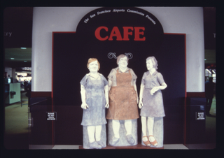 """Installation view of """"Airport Cafe"""""""