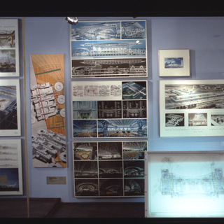 """Installation view of """"Building for Air Travel"""""""
