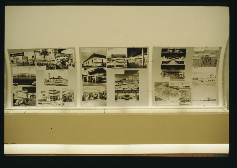 "Installation view of ""Building for Air Travel"""