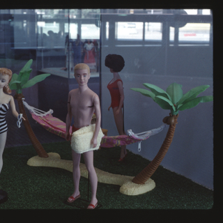 """Installation view of """"Barbie® Takes A Vacation to Exotic Places"""""""