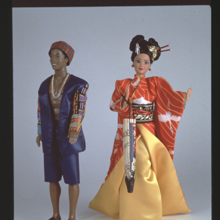 "Installation view of ""Barbie® Takes A Vacation to Exotic Places"""