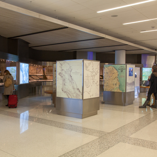 """Installation view of """"San Francisco, From the David Rumsey Map Collection"""""""