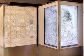 "Installation view of ""San Francisco, From the David Rumsey Map Collection"""