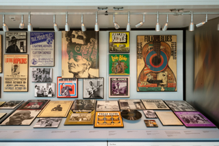 "Installation view of ""Down-Home Music: The Story of Arhoolie Records"""