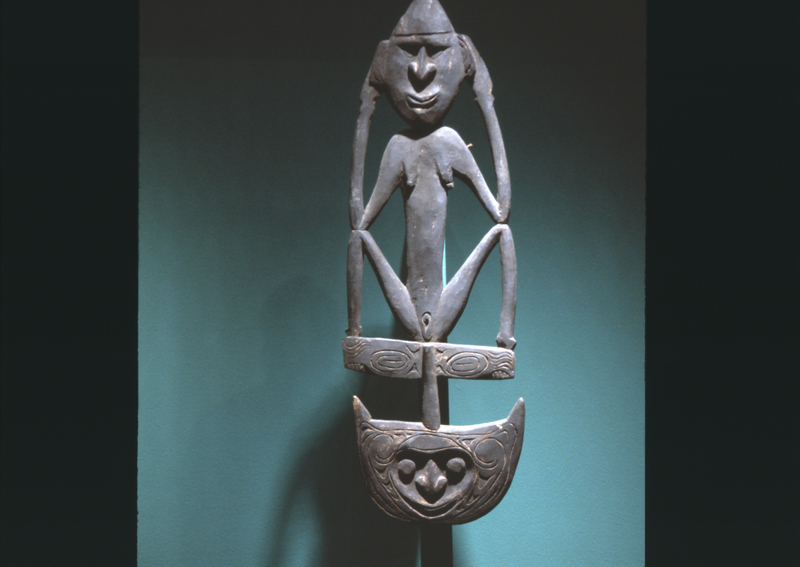 """Installation view of """"Ancestor Figures from New Guinea"""""""
