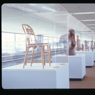 """Installation view of """"Artist's Furniture: New Dimensions and Statements in Design"""""""