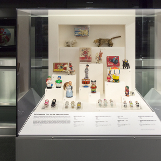 """Installation view of """"Japanese Toys! From Kokeshi to Kaiju"""""""