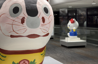 "Installation view of ""Japanese Toys! From Kokeshi to Kaiju"""